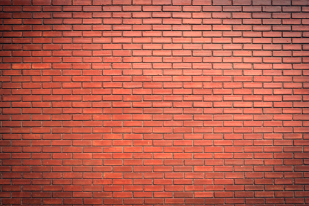 red wall: brick wall texture background material of industry building construction Stock Photo