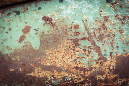 corrosion: rusty metal plate panel corroded texture background Stock Photo