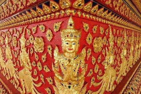sculpt: art of thai sculpture in Wat Suan Dok, thai temple in chiang mai, thailand