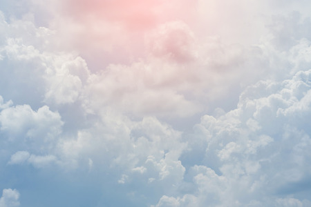 heaven background: white cloud covered sky, cloudy dramatic sky, abstract heaven background Stock Photo