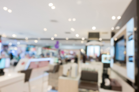 department store shopping mall, image blur defocused background Stock Photo