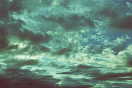 dramatic clouds: dark sky with cloud, image vintage background Stock Photo