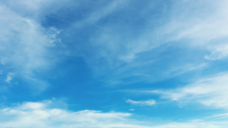 horizons: blue sky and white cloud, fluffy cloudy sky background