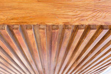 Diseño Del Techo De Madera, Madera Brillante Barniz De Barra Para La ...