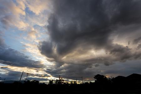 thunderstorm: rain cloud thunderstorm dramatic twilight sky background