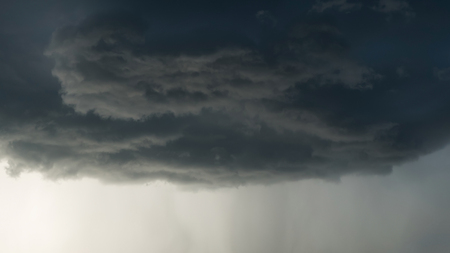 rain weather: heavy rain storm clouds, thunderstorm dramatic sky, bad day weather background