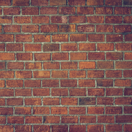 retro grunge: cement and brick wall texture background, image used retro vintage tone filter