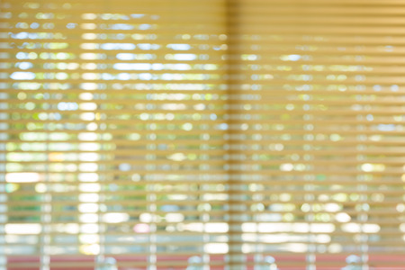 blinds: window blinds open in home, image blur background