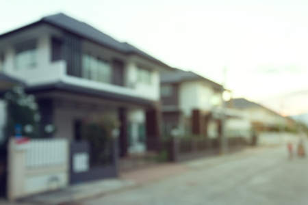 residential: property residential house building, image blur background Stock Photo