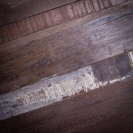 wood surface: timber wood panel plank rough grain surface texture background Stock Photo