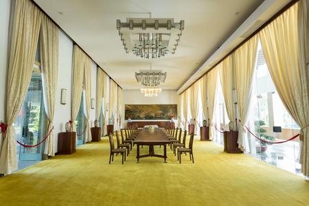 HO CHI MINH CITY, VIETNAM- NOVEMBER 2015: Interior decoration room in Independence Palace, Ho Chi Minh City, Vietnam Editorial