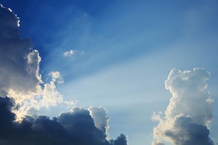 moody sky: light rays on dramatic moody sky