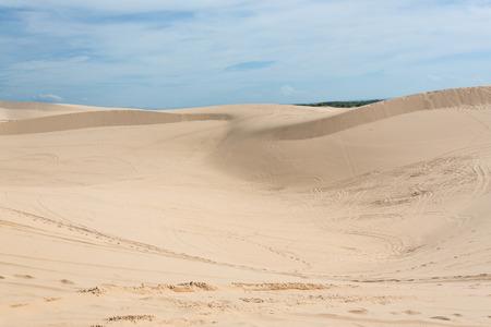ne: white sand dune desert in Mui Ne, Vietnam Stock Photo