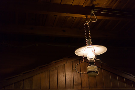 lamplight: hurricane lamp design electricity lamplight hanging decorate home interior design on wooden ceiling wall