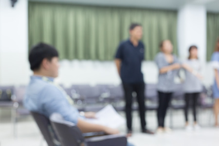 amplification: image blur, activity of people relationship meeting in office