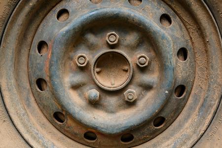 alloy: old rusty metal alloy wheel car vehicle