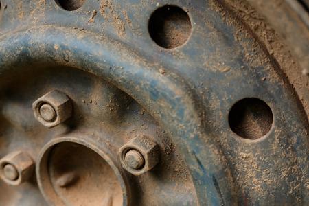 rusty car: old rusty metal alloy wheel car vehicle