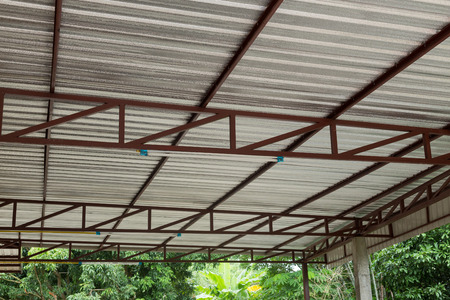 silver foil insulation heat on ceiling roof house Stock Photo