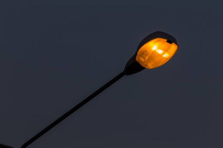 street light in urban city night Stock Photo