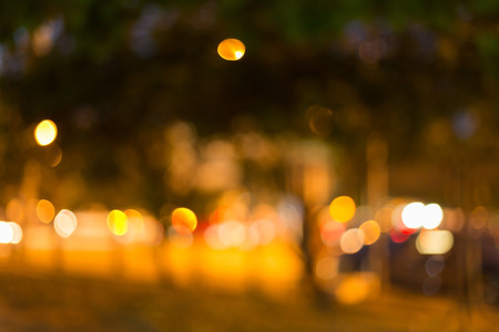 night light of roadside traffic in the city street, abstract blur bokeh background