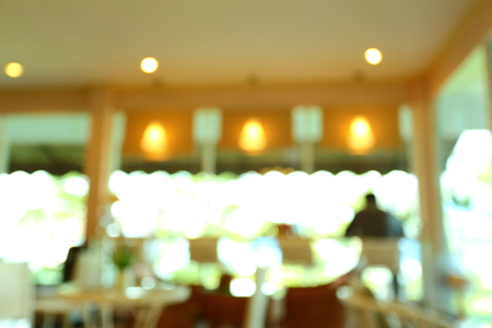 blurred cafe coffee shop interior decoration, abstract defocused background