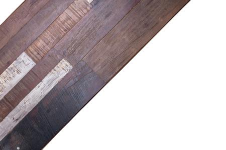 crack: timber wood panel plank isolated on white background