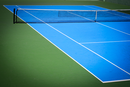 blue and green tennis court sport background