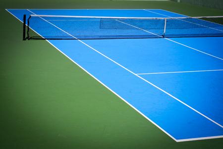 파란색과 녹색 테니스 코트 스포츠 배경 스톡 콘텐츠
