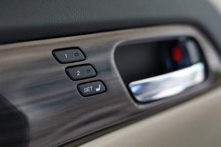 comfortable: memory seat technology inside luxury vehicle car