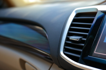 air conditioning inside luxury vehicle car interior