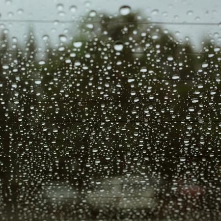 water rain drop on window car