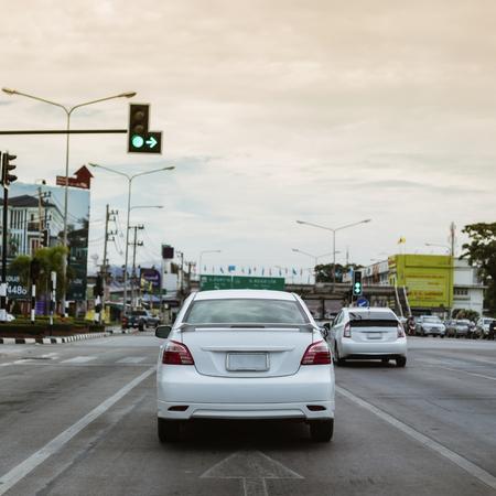 drive car on urban road