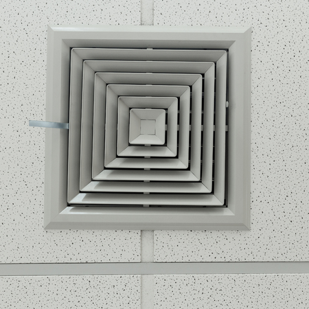 air conditioner ventilation on office ceiling