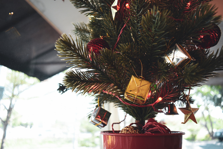 christmas tree decoration in home