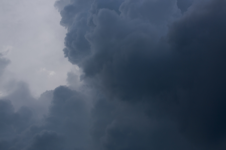 dark heavy storm cloud on dramatic moody sky Stok Fotoğraf