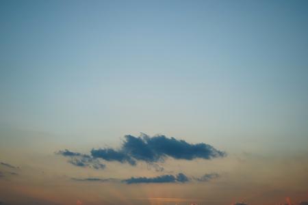 sunlight on dusk sky
