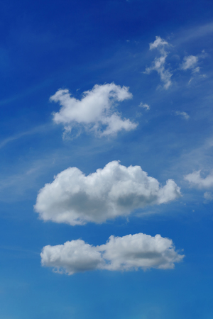 fluffy white cloud on clear blue sky, cloudy weather background