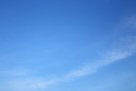beautiful clear blue sky with fluffy white cloud in the morning good weather day