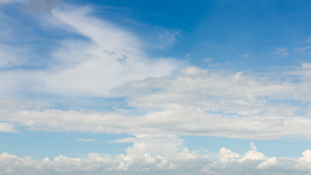dramatic cloud moving above blue sky, cloudy day weather background