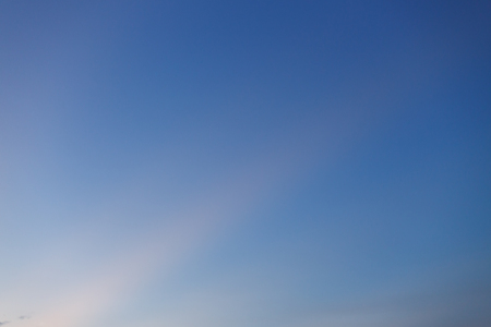 sunray on clear twilight sky background