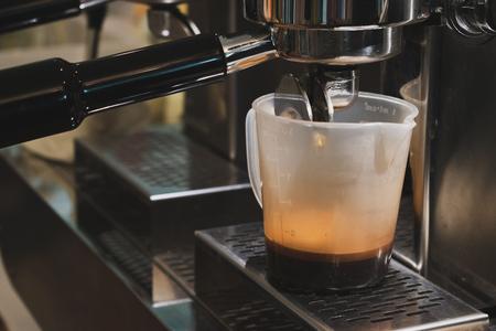 coffee machine in cafe Фото со стока