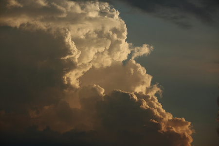 golden cloud on dramatic sunset sky background
