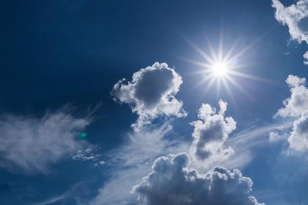 sun light on dramatic moody sky with cloud