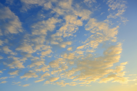 cloud on sunset sky background 写真素材