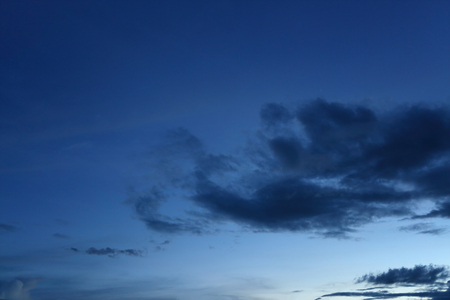 black cloud on blue night sky background Standard-Bild