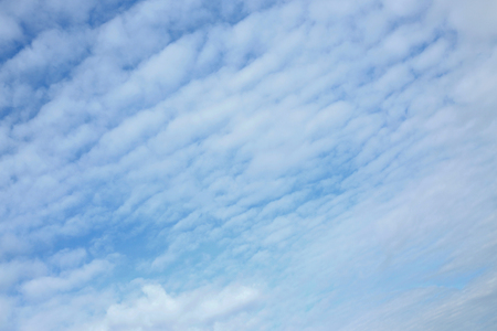 fluffy white cloud on blue sky background Stock Photo