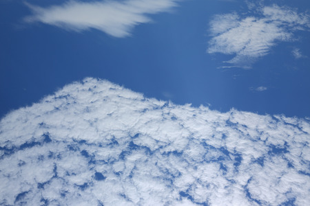 white cloud on blue sky background Stock Photo