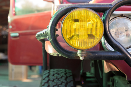 headlight of strong off-road car Archivio Fotografico - 122654784