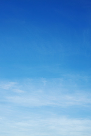air on blue sky, clear weather day background Stock Photo
