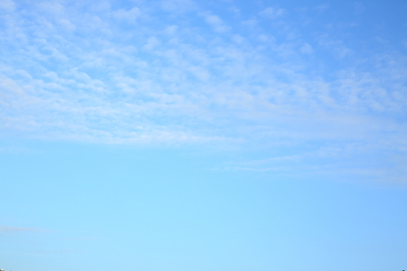 beautiful clear blue sky with fluffy white cloud in the morning day good weather Stock Photo